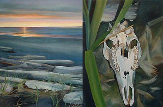 Natalie Elizabeth Leblanc; My Arms Are Not Big Enoug..., 2003, Original Painting Oil, 72 x 48 inches. Artwork description: 241 Diptych...
