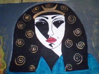 Mercedes Morgana Reyes; Hecate, 2011, Original Painting Acrylic, 18 x 12 inches. Artwork description: 241   The painting depicts the goddess Hecate it has real 24kt gold and egg tempera.  ...