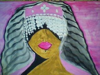 Mercedes Morgana Reyes; Yewa, 2011, Original Painting Acrylic, 18 x 12 inches. Artwork description: 241  This painting depicts the Yoruba goddess of death  ...