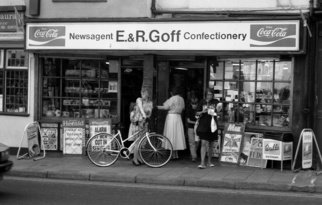 Neil Howe; The Shop, 1993, Original Photography Black and White, 22 x 16 inches. Artwork description: 241   Oxford, England           ...