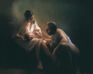 Aleksa Prudnikov; Prudnikoff Djordje, 1987, Original Digital Print, 100 x 80 cm. Artwork description: 241 Mother , FAther, child, Trinity,   Days of Happiness   ...