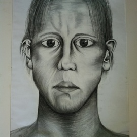 Nicole Brennan, , , Original Drawing Charcoal, size_width{self_portrait-1522217001.jpg} X 33 inches