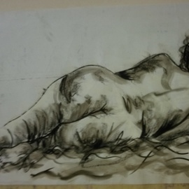 Nicole Brennan, , , Original Drawing Charcoal, size_width{untitled-1522216148.jpg} X 23 inches