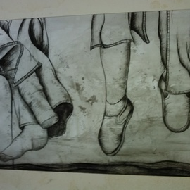 Nicole Brennan, , , Original Drawing Charcoal, size_width{untitled-1522386377.jpg} X 23 inches