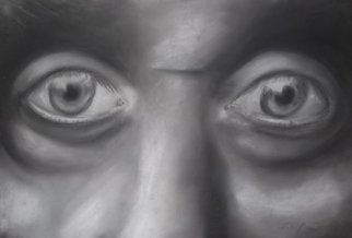 Nicole Pereira; Eyes, 2014, Original Drawing Charcoal, 18 x 12 inches. Artwork description: 241