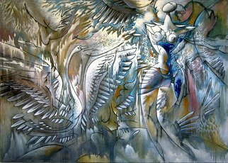 Nikolai Bartossik; DANCE OF SWAN, 1994, Original Painting Oil, 66 x 47 inches.