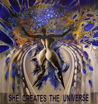 Nikolai Bartossik; SHE CREATES THE UNIVERSE, 2010, Original Painting Acrylic, 238 x 214 cm.