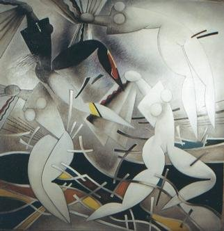 Nikolai Bartossik; The Dance Of Gravitation, 1990, Original Painting Oil, 66 x 69 inches.