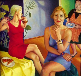 Nino Pkhaladze; BREAKFAST COFFEE, 2004, Original Painting Oil, 85 x 80 cm.