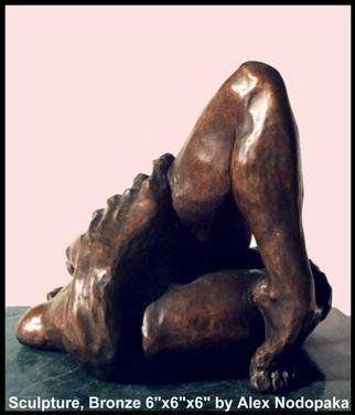 Alexandre Nodopaka; Caress 40, 2000, Original Sculpture Bronze, 6 x 6 inches. Artwork description: 241 Achilles Heel...
