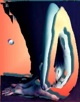 Alexandre Nodopaka; Nude 2002-01, 2002, Original Computer Art,   inches. Artwork description: 241 Adulterated Pixels...