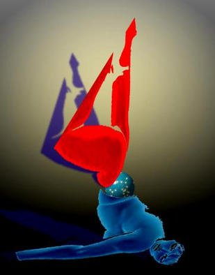 Alexandre Nodopaka; Nude 2002-02, 2002, Original Computer Art,   inches. Artwork description: 241 Adulterated Pixels...