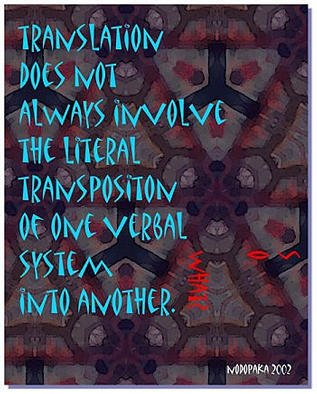 Alexandre Nodopaka; Translation, 2003, Original Computer Art, 1 x 1 feet.
