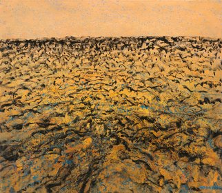 Noel Hodnett; Desertscape, 2016, Original Painting Oil, 107 x 94 cm. Artwork description: 241  Painting based on desert landscape  ...