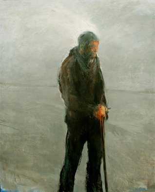 Noel Hodnett; Man with Stick, 2006, Original Painting Oil, 135 x 156 cm.