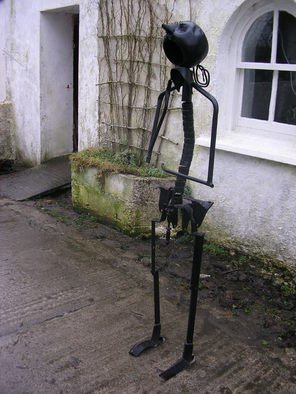 Noel Molloy; Standing Figure, 2010, Original Sculpture Mixed, 3 x 5 feet. Artwork description: 241  found object ...