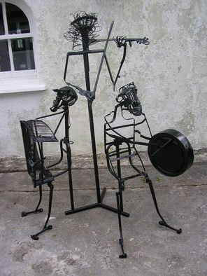 Noel Molloy; Three Musicans, 2009, Original Sculpture Mixed, 120 x 150 cm. Artwork description: 241       found objects         ...