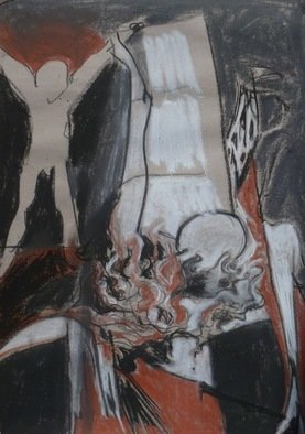H Schlagen; Burning Down The House, 2012, Original Drawing Other, 42 x 59 cm. Artwork description: 241  Burning down the house ...