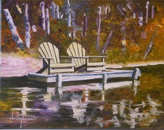 William Christopherson; Adirondacks Oil Heart Lak..., 2013, Original Painting Oil, 14 x 11 inches. Artwork description: 241  Title High Peaks Chairs11 x 14 Pallet knife Original oil. Completed broad stroke impressionist technique. This is NOT a print. Acquiring a print is nice - butowning the original is powerful. Take a shot. This is an exceptional addition to any wall. Artists capture of the ADK high ...