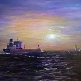 William Christopherson, , , Original Painting Oil, size_width{Algoma_Guardian_Seascape_Thousand_Isla-1538132624.jpg} X 22 inches