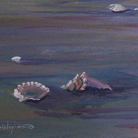 William Christopherson, , , Original Painting Acrylic, size_width{Florida_Fort_Meyers_Beach_Shells-1228785814.jpg} X 11 inches