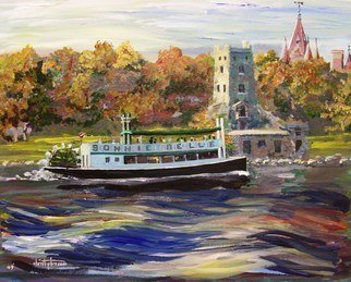 William Christopherson, 'Saint Lawrence Boldt Cast...', 2009, original Painting Acrylic, 16 x 20  x 0.2 inches. Artwork description: 1911 Original acrylic on 16x 20 canvas board. Title Bonnie Belle At Heart Island. Historic replica paddle- wheeler tour boat that plies the Thousand Islands. Impressionistic artists rendition. The artist has employed Golden brand professional artist grade acrylics. Artwork shipped wrapped, and packaged for shipment USPS Priority mail. ...