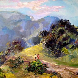 Renuka Pillai, , , Original Painting Oil, size_width{Laguna_Canyon_Road-1290997545.jpg} X 9 inches
