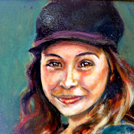 Renuka Pillai, , , Original Painting Oil, size_width{Smile-1561226957.jpg} X 11 inches