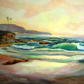 Renuka Pillai, , , Original Painting Oil, size_width{Sunset-1418262444.jpg} X 30 inches