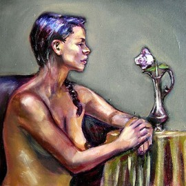 Renuka Pillai, , , Original Painting Oil, size_width{The_Rose-1290995155.jpg} X 16 inches