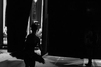 Yulia Nak; Black Swan  Russian Ballet, 2016, Original Photography Black and White, 17 x 12 inches. Artwork description: 241 Dance, black white, theater...