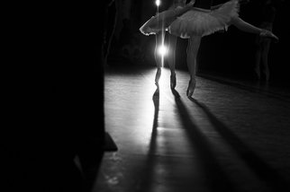 Yulia Nak; Swans, 2016, Original Photography Black and White, 17 x 12 inches. Artwork description: 241 Dance, black white, theater...
