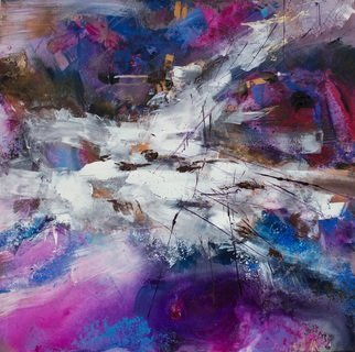 Olga Beblova; Snowy Jerusalem, 2016, Original Painting Acrylic, 75 x 75 cm. Artwork description: 241 Energy, intuition, light, emotion...