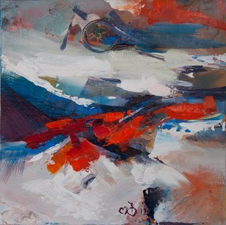 Olga Beblova; The Alpes, 2014, Original Painting Acrylic, 45 x 45 cm. Artwork description: 241 Alps, snow, energy...