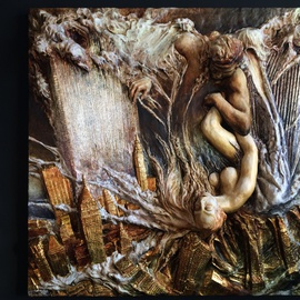 Janusz Obst, Forever, 2005, Original Bas Relief, size_width{Forever-1410111598.jpg} X 46 x  inches