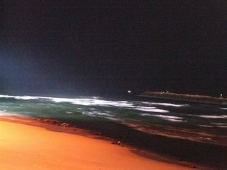 Orly Droval; Sea, 2011, Original Photography Color, 40 x 30 cm. Artwork description: 241  sea night  ...
