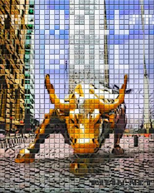 Oleg Filin; The Wall St Bull, 2017, Original Photography Mixed Media, 80 x 100 cm. Artwork description: 241 AVAILABLE IN PRINTS only  the artwork is presented by a PREVIEW image at absolutearts. com and  available in high- quolity wall art prints at another art trading web- sites in different mediums and sizes: acrylic, aluminium, acrylic glass   from 10x20 cm through 100 cm. My additional SHOPS ...