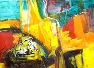 Oscar Gagliano; EVENTO, 2014, Original Painting Acrylic, 70 x 100 cm. Artwork description: 241        COLOR, EXPRESION, ABSTRACTO       ...