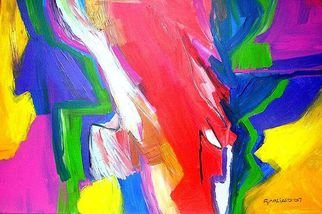 Oscar Gagliano; FRICCION, 2014, Original Painting Acrylic, 70 x 100 cm. Artwork description: 241            COLOR, EXPRESION, ABSTRACTO           ...