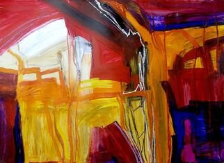 Oscar Gagliano; MAQUINA, 2014, Original Painting Acrylic, 50 x 65 cm. Artwork description: 241  COLOR, EXPRESION, ABSTRACTO ...