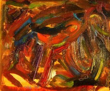 Artist: Ron Ogle's, title: HORSE SERIES number 10, 1999, Painting Oil