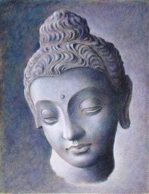 Ron Ogle, 'Head Of Buddha', 2008, original Painting Oil, 11 x 14  x 1 inches. Artwork description: 2307  Found in Gandhara, Northern India.  Made about 3rd century A.  D.  Beyond the beauty of the external forms, there is more here something that cannot be named, something ineffable, some deep, inner, holy essence.  Whenever and wherever there is beauty, this inner essence shines through somehow.  It ...