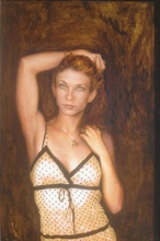 Artist: Ron Ogle's, title: Ms Swafford, 2008, Painting Oil