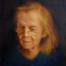 Ron Ogle, , , Original Painting Oil, size_width{My_Mother_at_89-1310067668.jpg} X 12 inches