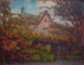 Ron Ogle, 'The Blake House', 2009, original Painting Oil, 14 x 11  x 1 inches. Artwork description: 2307 The Blake House. A fine and fancy old home - so cool in the summertime - southern Buncombe County, North Carolina. ...