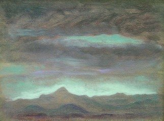 Ron Ogle, , , Original Painting Oil, size_width{Tiny_Mt_Pisgah_Landscape-1164403447.jpg} X 5 inches