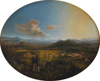 Ron Ogle,   VIEW OF ASHEVILLE in 1850, 2015, Original Painting Oil,    inches