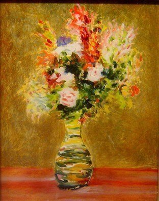 Ron Ogle, , , Original Painting Oil, size_width{still_life_on_glass-1425923830.jpg} X 10 inches