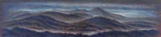 Ron Ogle; Those Mountains To The West, 2019, Original Painting Oil, 39 x 12 inches.