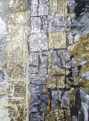Oksana Davyda; Fate 1, 2009, Original Painting Oil, 30 x 40 inches. Artwork description: 241  Oil on canvas, gold leaf ...